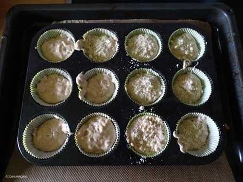 Muffins in der Form
