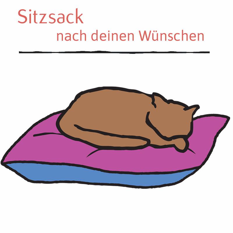 Katzenbett nach Wunsch - Sitzsack