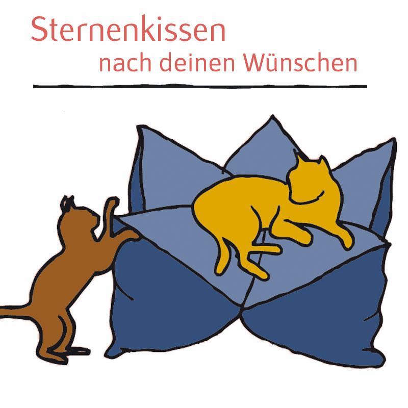 Katzenbett nach Wunsch - Sternenkissen